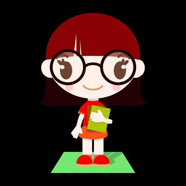 Schoolgirl standing