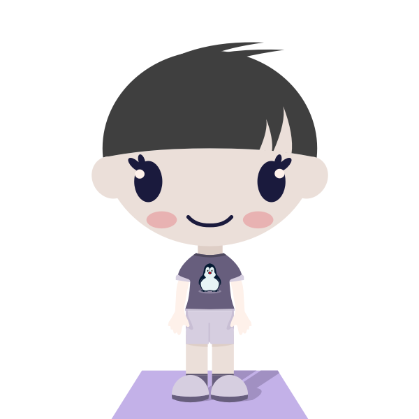 Vector image of boy with short hair
