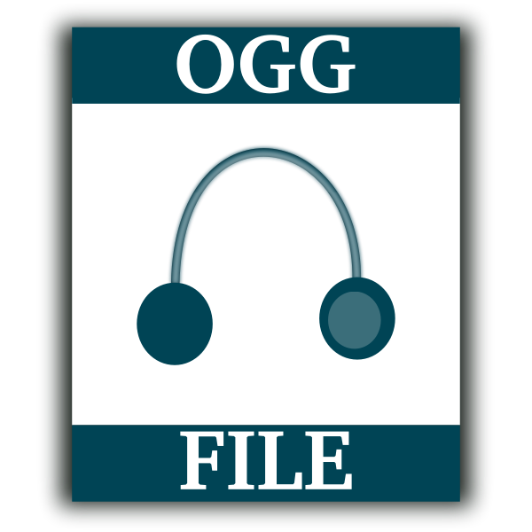 OGG file web vector icon
