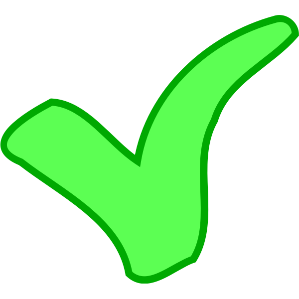 green OK / success symbol