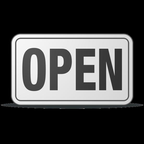 Open sign vector clip art