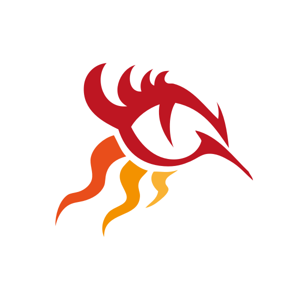 Vector drawing of forward moving fire flame