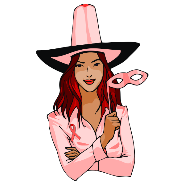Female in Halloween witch costume vector image