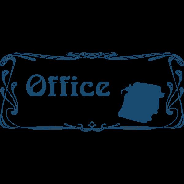 Office door sign vector image