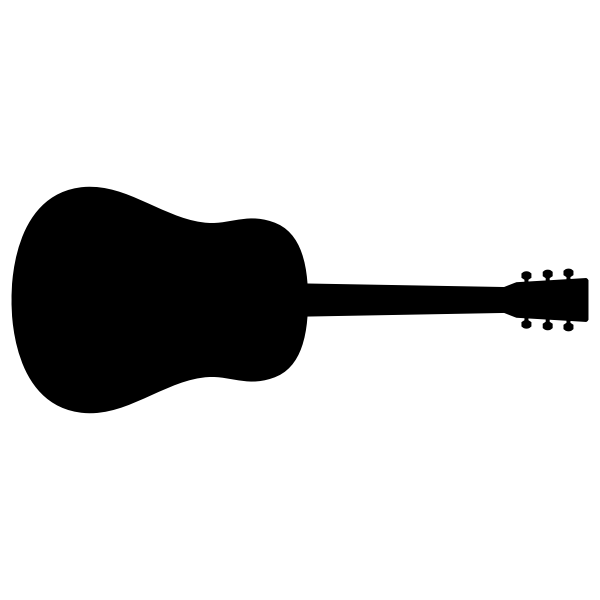 Guitar silhouette clip art graphics