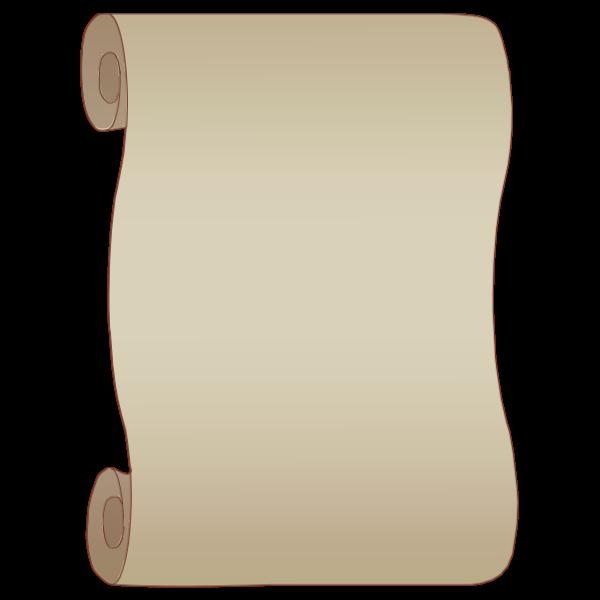 Gray paper scroll