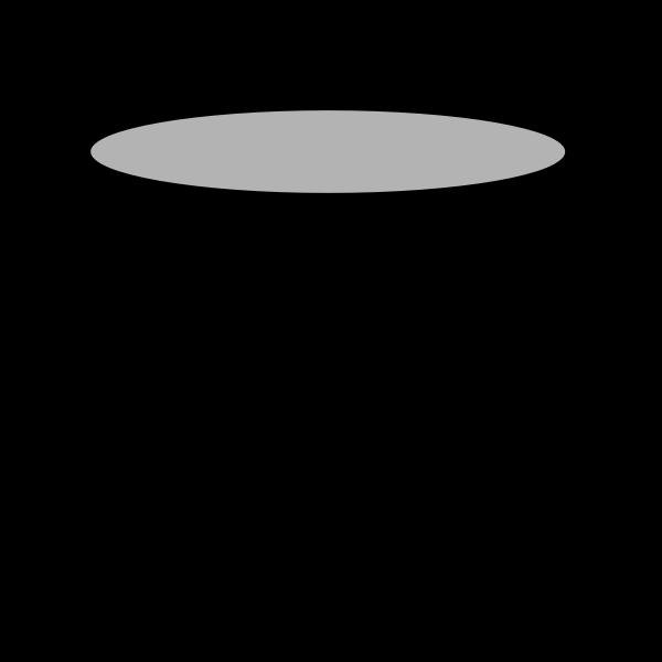 Vector drawing of empty black pot