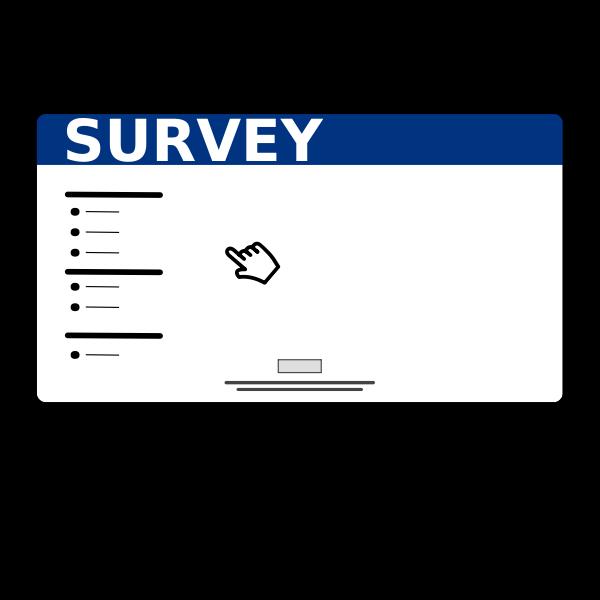 Online computer survey icon vector image