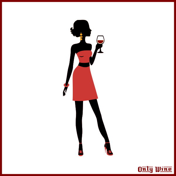 OnlyWine  girl red dress