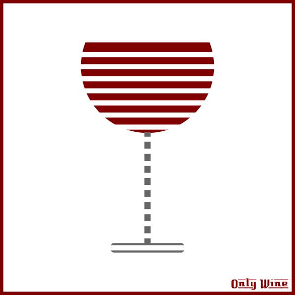 Arty wine glass