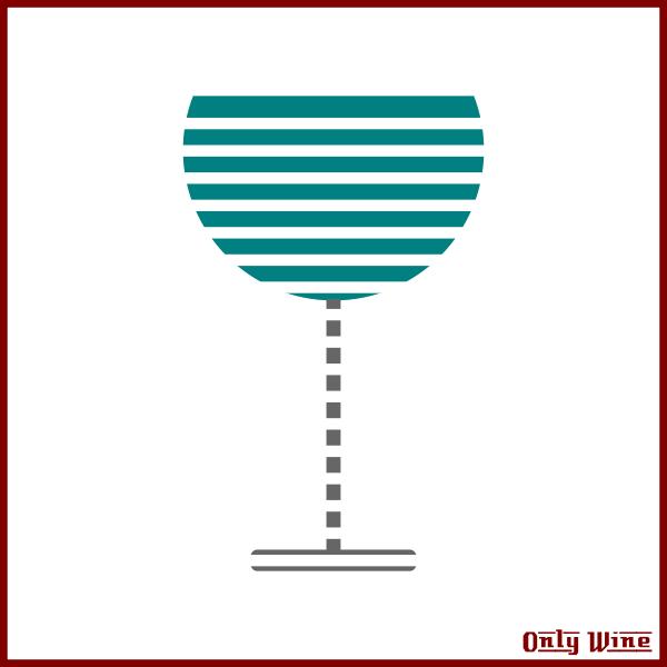 Stripy glass image