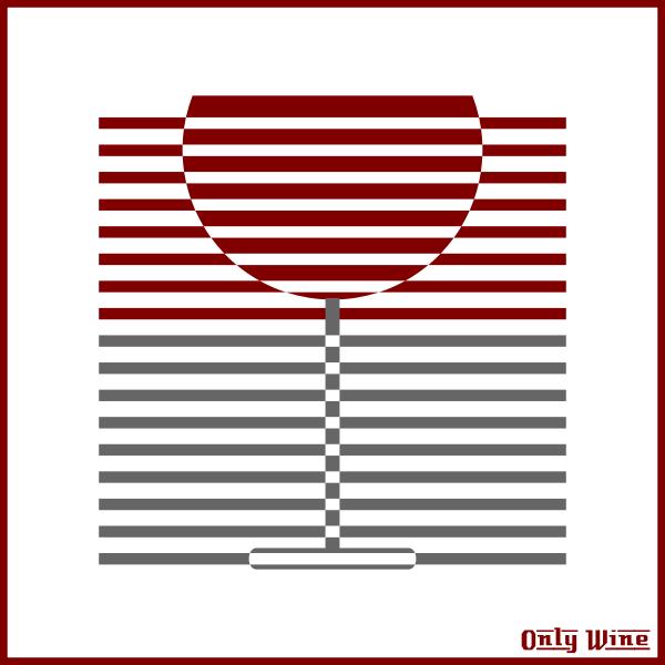 Wine glass silhouette image