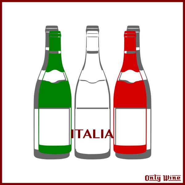 Italian flag and wines