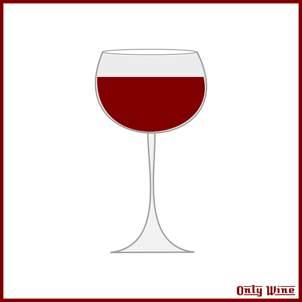 Filled wine glass