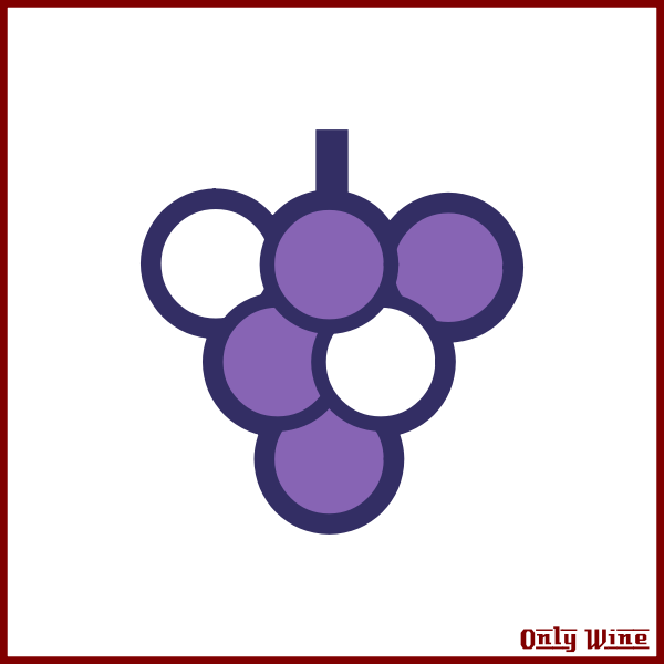 Wine and grapes symbol
