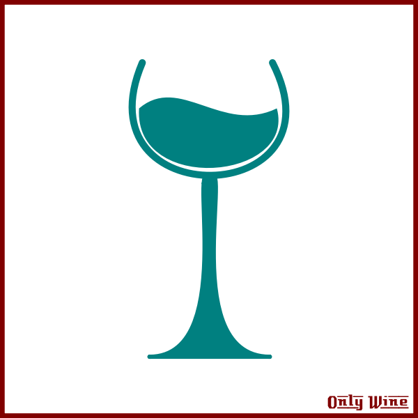 Blue wine icon