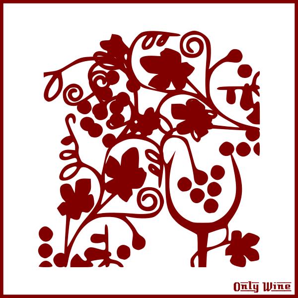 Red wine symbol