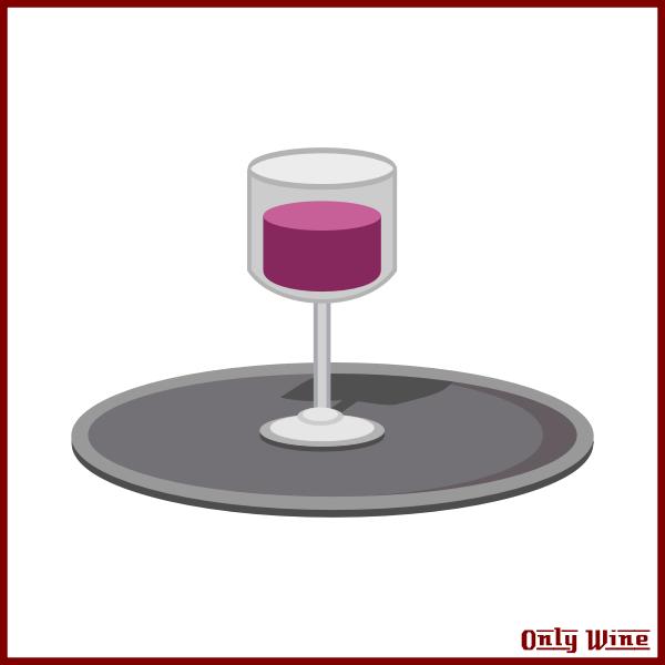 Wine on platter