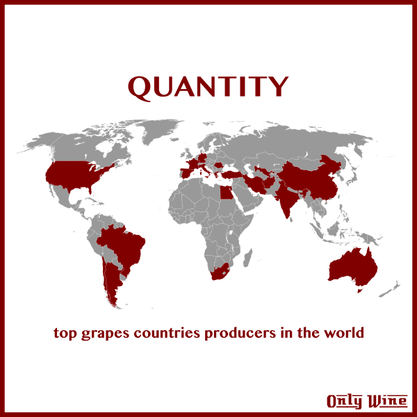 Top grapes map