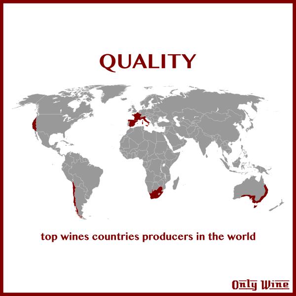 Top wines map