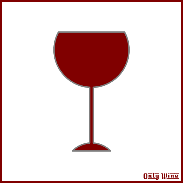 Outlined wine glass