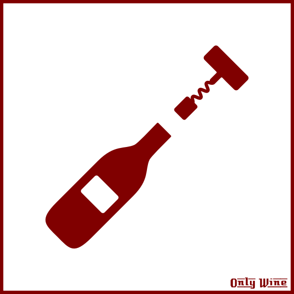 Red wine bottle image