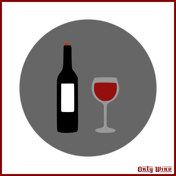 Bottle and glass poster