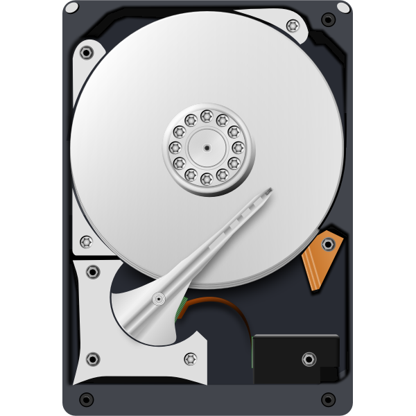 Open disk drive vector image