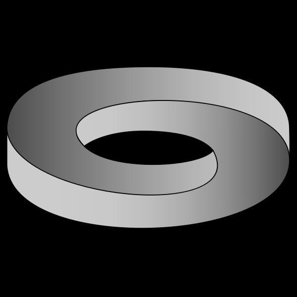 Silver wedding ring vector clip art
