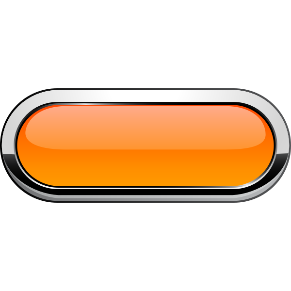 Thick grayscale border orange button vector illustration