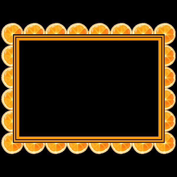 Orange Slice Frame