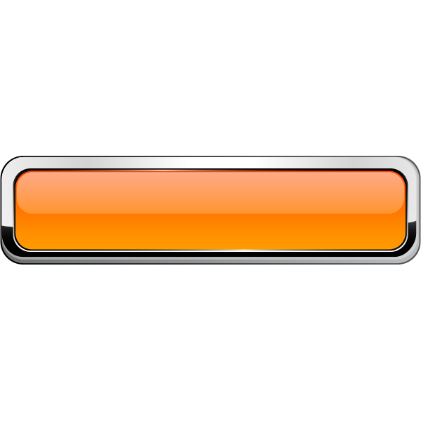 Thick grayscale square border orange button vector drawing