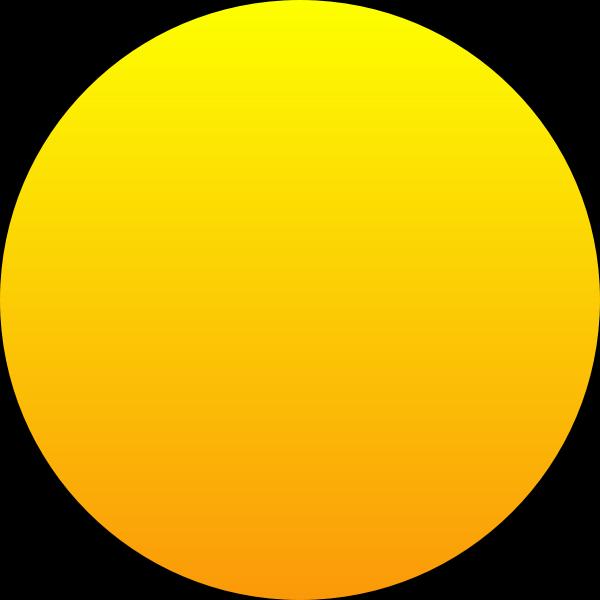 Orange Sun vector image