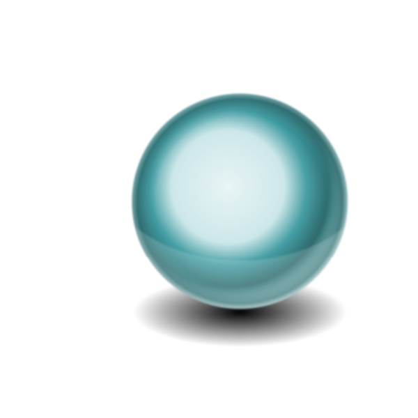 3D sphere with reflection vector image
