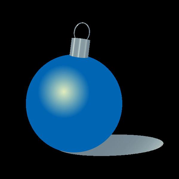 Christmas bauble blue color