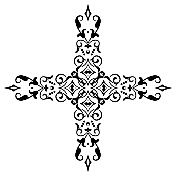 Ornamental divider cross