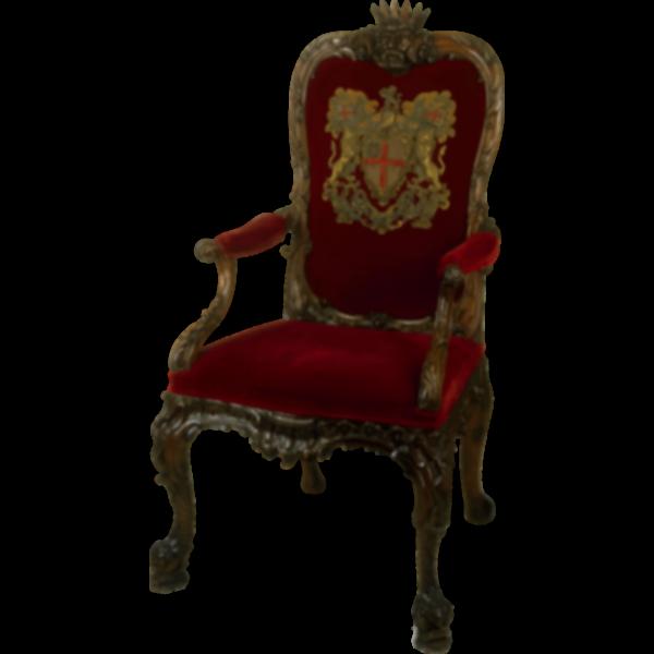 Ornate walnut chair