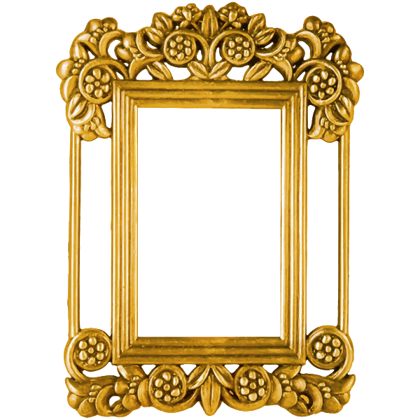 Ornate Frame Gold Color