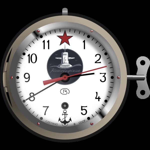 Soviet nuclear submarine clock vector image