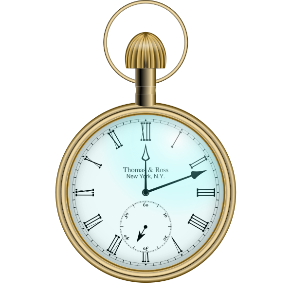 Classic Roman pocket watch vector image