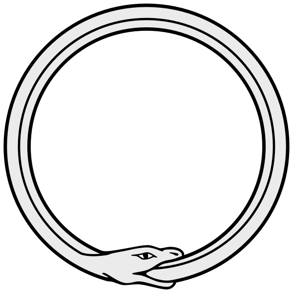 Ouroboros vector drawing