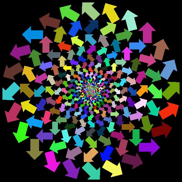 Outward arrows in vortex