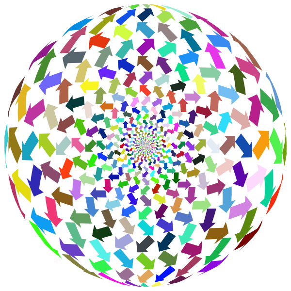 Colorful arrows sphere