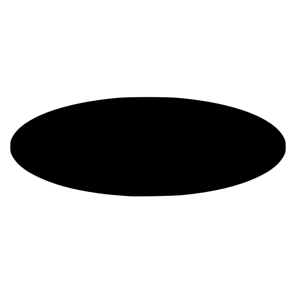 Oval black silhouette