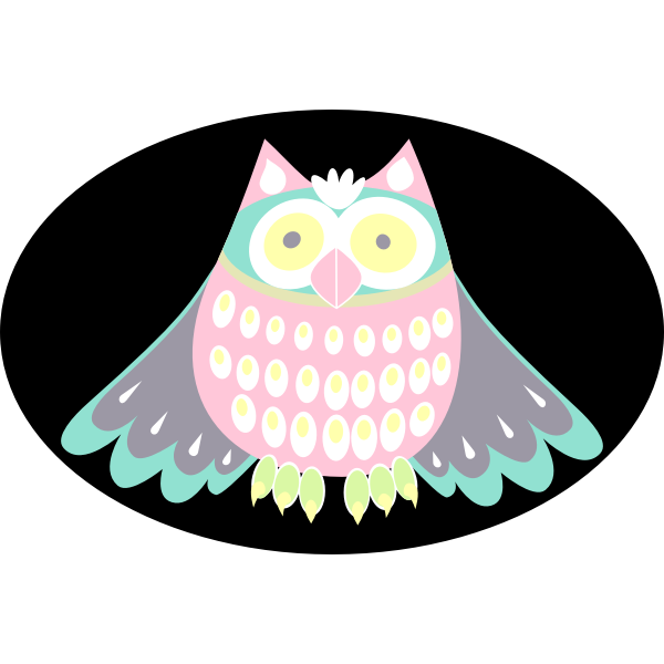 Colorful owl vector clip art