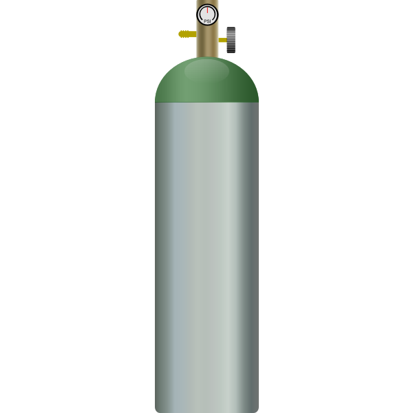 Oxygen tank vector graphics