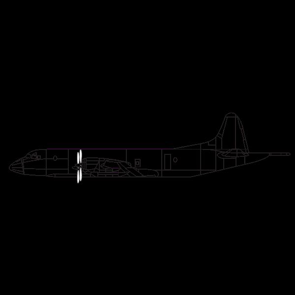 Lockheed P-3 Orion aircraft illustration