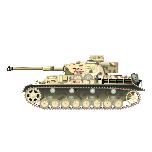 German military tank vector