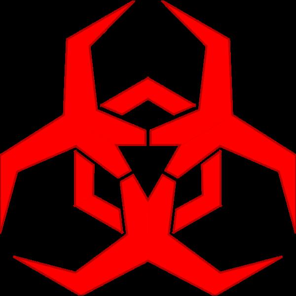 Malware hazard symbol red vector image