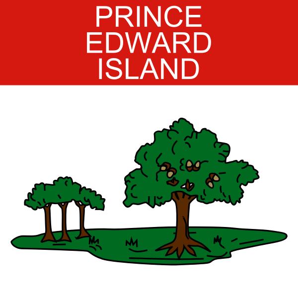 Prince Edward Island symbol vector image